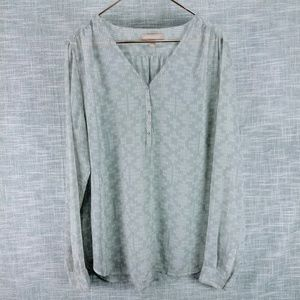 Banana Republic Semi Sheer Popover Tunic XL Tall